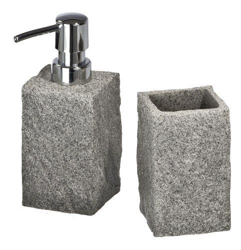 Pebble Stone Badaccessoire Set In Steinoptik Bad Accessoires Set Zurbruggen Badaccessoires