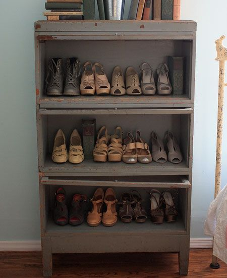 Click Pic For 32 DIY Shoe Organizer Ideas Repurposed Dresser Without Drawer