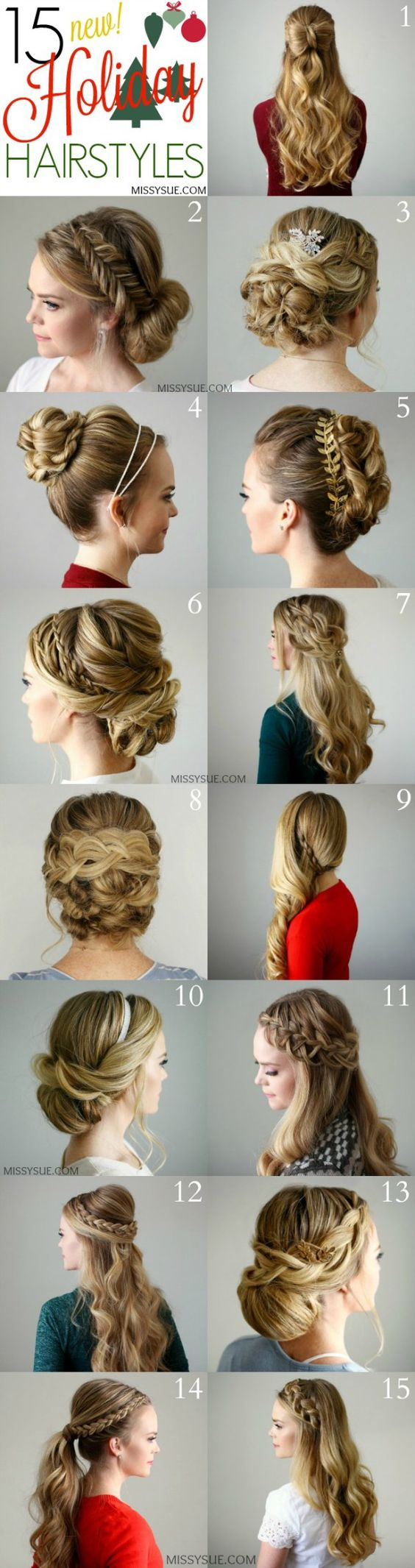 15 Holiday Hairstyles | MissySue.com: