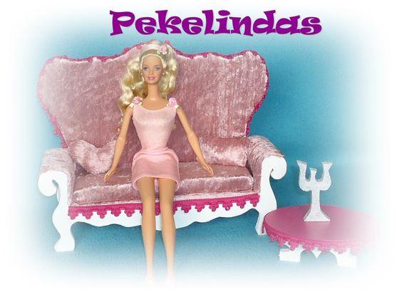 Sillon de 3 cuerpos para Barbie