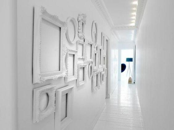 25 id es d co pour habiller un mur design cadres de l 39 art et art blanc - Habiller un mur blanc ...
