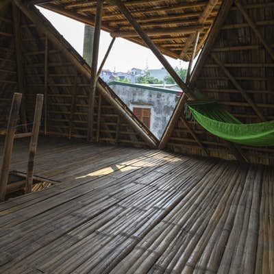 Low Cost Blooming Bamboo Home Built To Withstand Floods Building