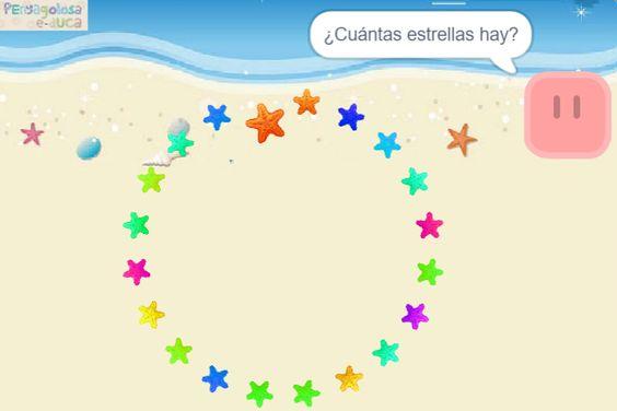 Contar estrellas de mar en círculo (20-35)