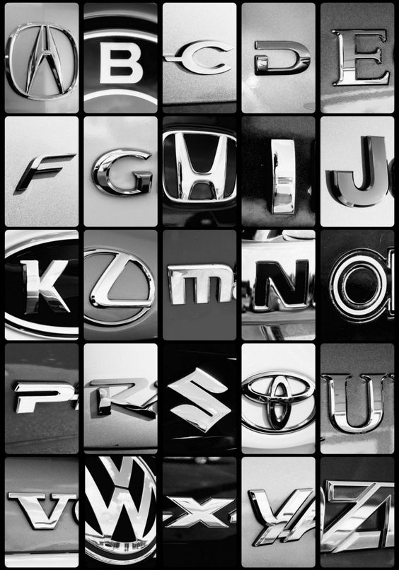 Car Logos Alphabet Art And Alphabet On Pinterest