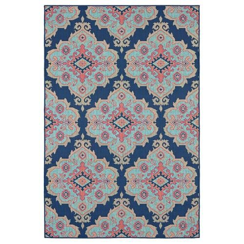 Allen Roth Outdoor Collection Navy Indoor Outdoor Moroccan Area Rug Common 8 X 10 Actual 10 Ft W X In 2020 Moroccan Area Rug Blue Outdoor Rug Outdoor Rugs Patio