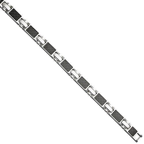 Dreambase Herren-Armband mit Klappverschluss Edelstahl 20…