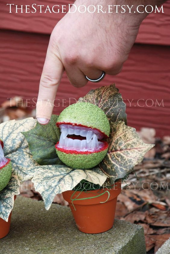 Halloween Decoration Prop Audrey 3 Little Shop of Horrors plant costume DIY Handmade Musical on Etsy, $16.95.