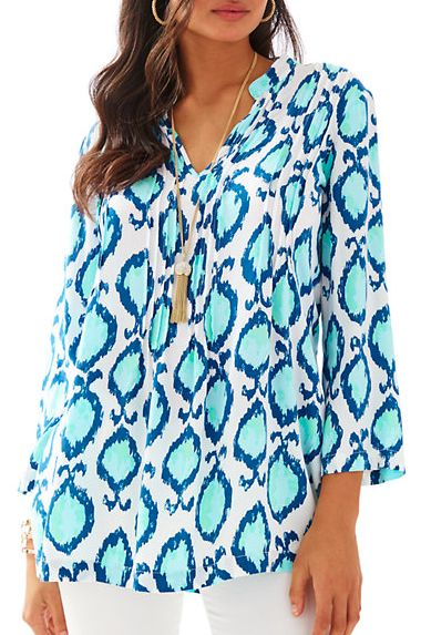 fun printed draped tunic - Lilly Pulitzer