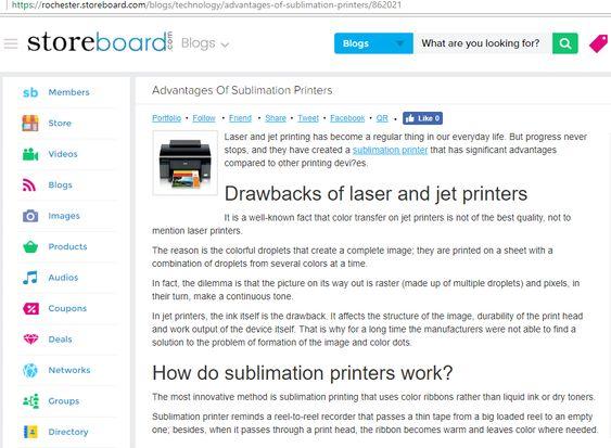 Sublimation Printers Advantages