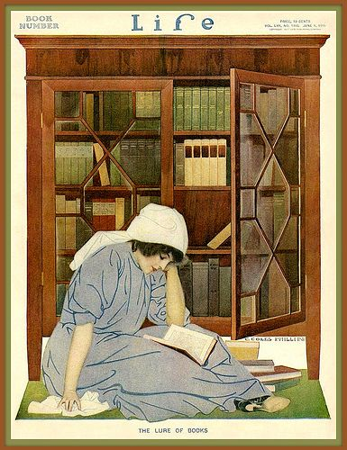'The Lure of Books' 1911 by Coles Phillips | Flickr : partage de photos !