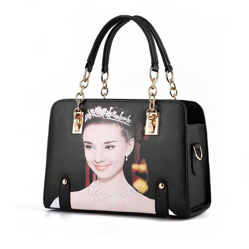 7369bb3ed3d1 Annmouler Women Famous Brands Handbags Pu Leather Bag 3D Marilyn Monroe  Shoulder Bag with Chain Printing Tote Bags
