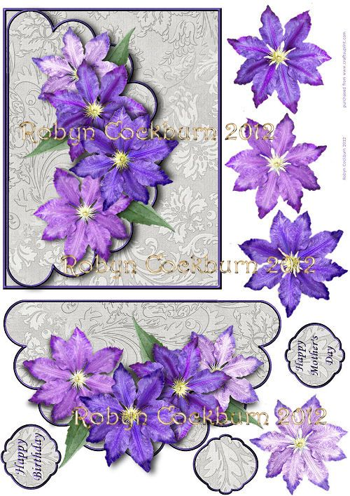Free Card Making Printables Part - 18: Card Making Sheets - Clematis-scallop-envelope.jpg Robyn Cockburn Parchment  Patterns Free