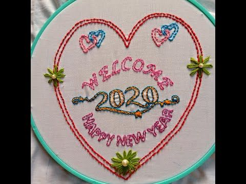 Happy New Year With Hand Embroidery A Perfect Design For New Year I Can Do It Youtube In 2020 Hand Embroidery Hand Embroidery Designs I Can Do It
