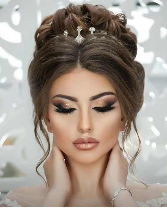 Special Hairstyle And Glam Makeup Wedding Hairstyles For Long