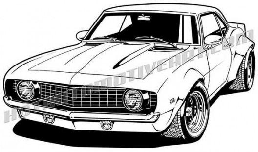 Customcars Custom Cars Drawings Disegni Adesivi Motori