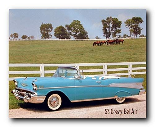 Lovely This Beautiful Piece Of Art Makes A Nice Accent In Any Home Decor This Poster Depicts The Image Chevy Bel Air 1957 Chevy Bel Air Classic Cars Vintage