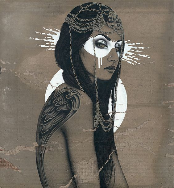 """Valkyria"" by Fin DAC @ CAVE Gallery #art #painting"