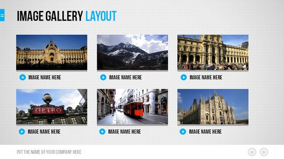 Grid Powerpoint by Design District, via Behance