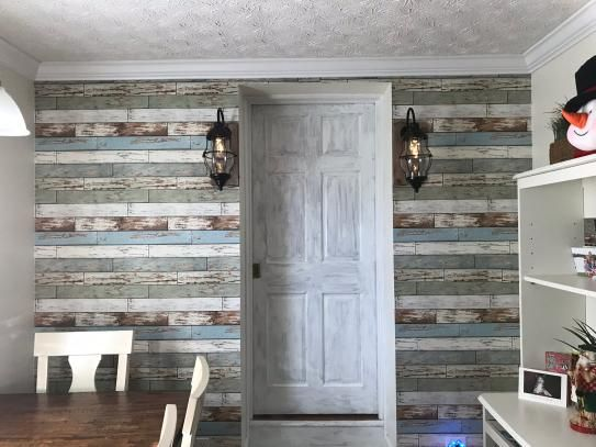 Nuwallpaper Old Salem Vintage Wood Peel And Stick Vinyl Strippable Wallpaper Covers 30 75 Sq Ft Nu2188 The Home Depot In 2021 Old Home Remodel Old Home Renovation Wood Feature Wall