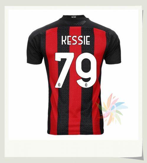 Prima Maglia KESSIE 79 AC Milan 2020 2021 Rosso Nero | Maglia, Ac ...