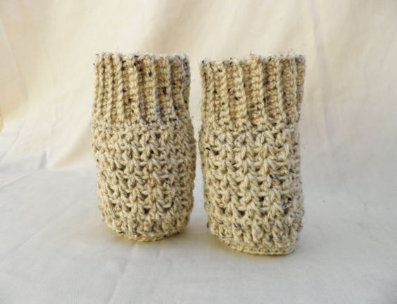 Crochet Boot cuffs sleaves thick and chunky leg by artstudio760, $20.00
