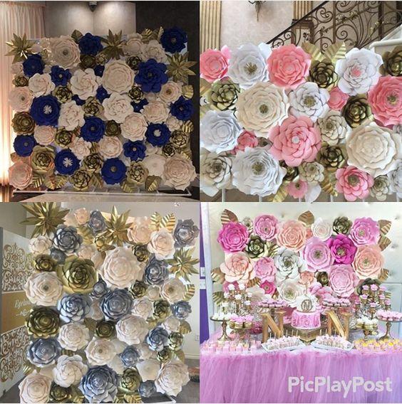 Resultado de imagen de flores gigantes con papel flores for Decoracion con cenefas de papel