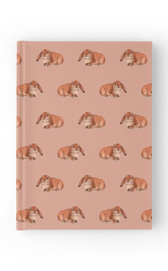 """""""Red rabbit ram"""" Hardcover Journal by Savousepate on Redbubble #hardcoverjournal #journal #notebook #stationery #pattern #drawing #watercolor #painting #rabbitram #rabbits #bunnies #orange #brown #ginger"""