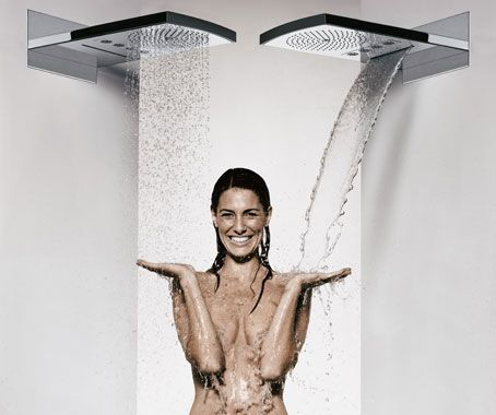 Raindance Rainfall Shower Head by Hansgrohe: Waterfall, hydromassage via a shower of aerated raindrops, or both?