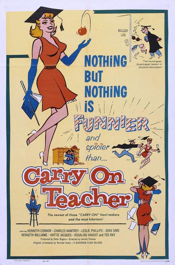 Carry on Teacher (1959)  Movie Posters https://www.youtube.com/user/PopcornCinemaShow