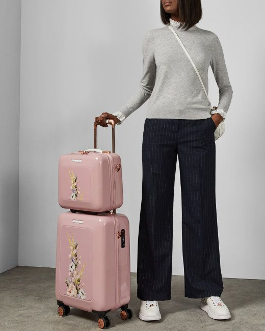 Elegant Print Small Suitcase Dusky Pink Travel And Luggage Ted Baker Women Accessories Bags Womens Fashion Accessories Ted Baker