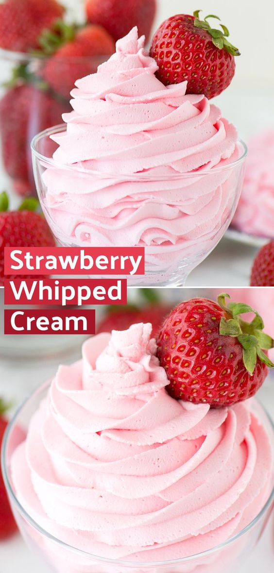 Strawberry Whipped Cream | The First Year