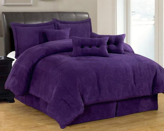 comforter purple bedding sets and comforter sets on pinterest. Black Bedroom Furniture Sets. Home Design Ideas