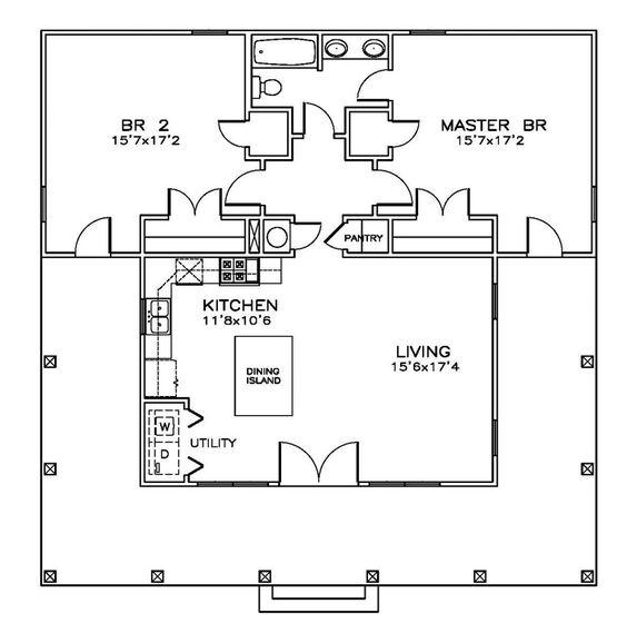 Cottage Florida Southern House Plan 72312 Lakes