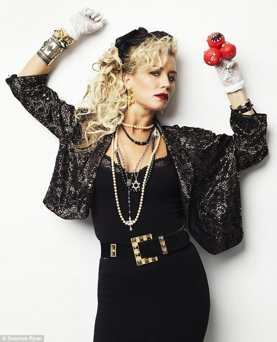 Denise Van Outen goes back to the 1980s in retro Madonna ...
