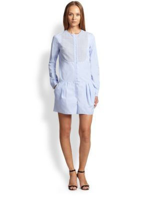 Nina Ricci Poplin Short Jumpsuit   Clothing