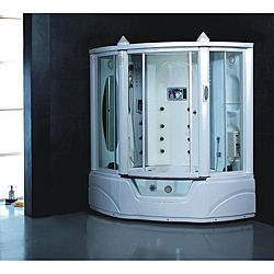 Gemini Steam Shower Whirlpool Tub Combo With Lcd Tv Tvs