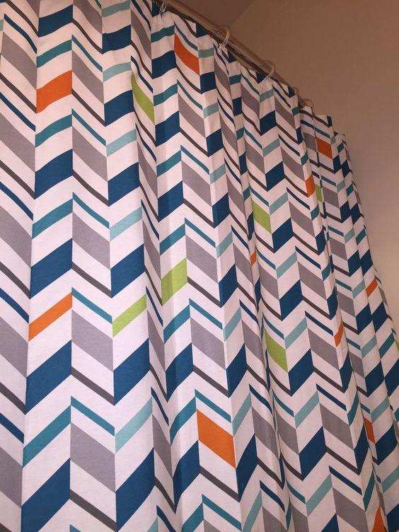 Circo Target Brand Geometric Print Cloth Shower Curtain