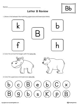 Free Worksheets » Letter B Worksheets For Preschool - Free ...