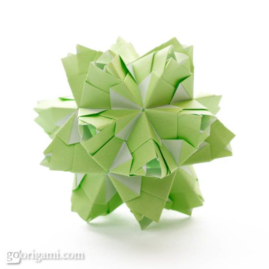 Korean paper folding-flower ball pendant -----LetusDIY.ORG DIY ...   550x550