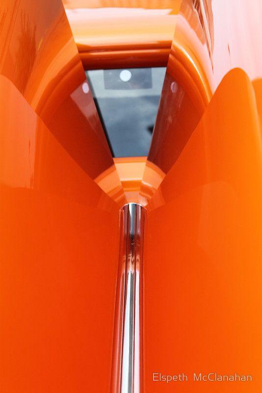 car fantasy in orange by elspeth mcmlanahan