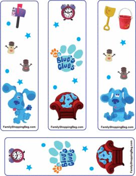 Blues Clues Bookmark free printables: