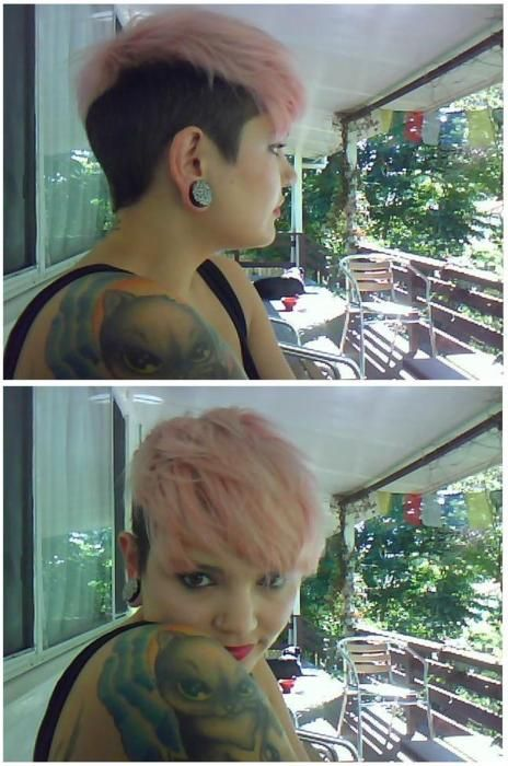 love this adorable cut and color. can't wait til I have long fluffy bangs again :]