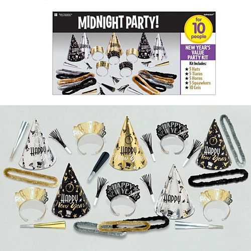 New Years Eve Value Party Kit for 10 People