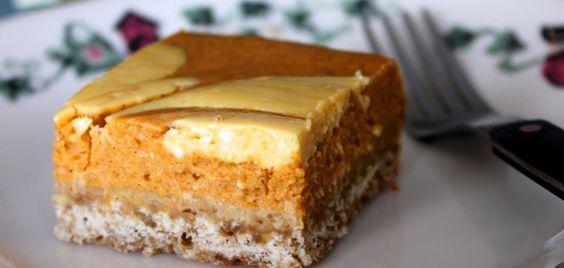 Pumpkin Swirled Cheese Cake