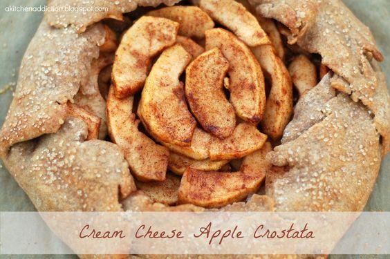 {A Kitchen Addiction} Cream Cheese Apple Crostata for Two