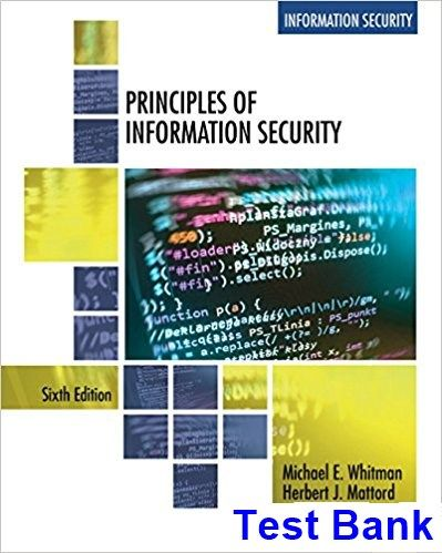 Principles Of Information Security 6th Edition Whitman Test Bank Solutions Manual Test Bank Instant Download Test Bank Principles Whitman