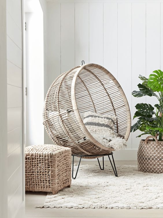 NEW Round Rattan Cocoon Chair - Luxury Chairs - Luxury Seating - Luxury Home Furniture cox&cox £650
