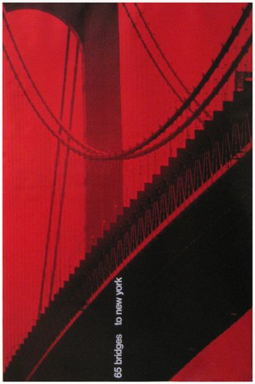 Container Corp. of America, 65 bridges to New York  by Tomoko Miho 1968