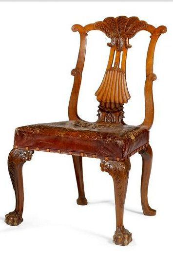 A pair of George II mahogany side chairs ca 1740 | lot | Sotheby's
