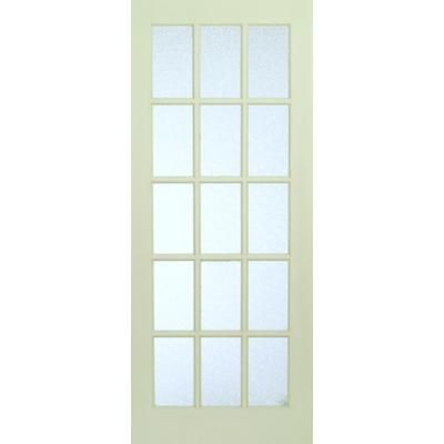 Milette interior 15 lite french door primed with martele for Home depot glass french doors